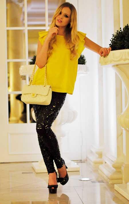 sugestões de blusas amarelas