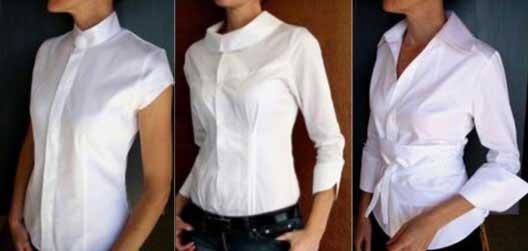 imagens de blusas brancas