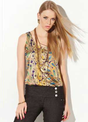 blusas de cetim femininas
