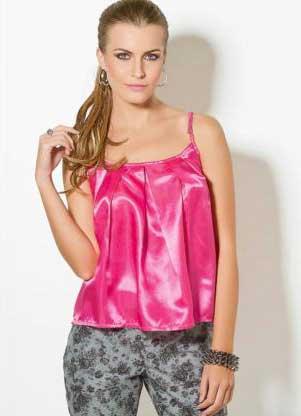 blusas de cetim da moda