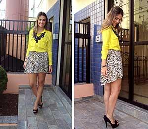 blusas amarelas da moda feminina