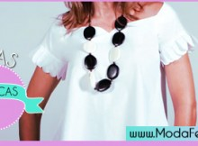 modelos de blusas brancas