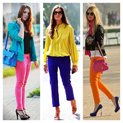 de diversas cores