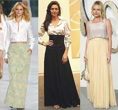 modelos de saias longas