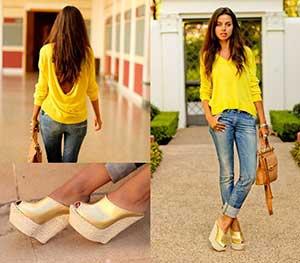 blusas amarelas para o dia a dia