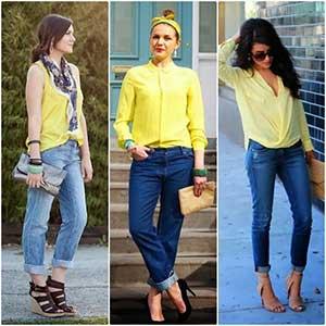 blusas amarelas femininas
