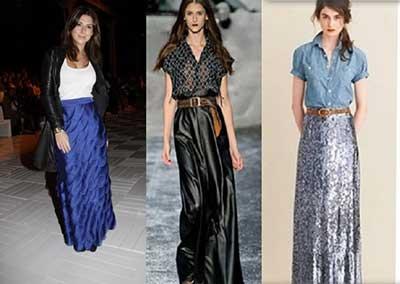 moda em saias longas