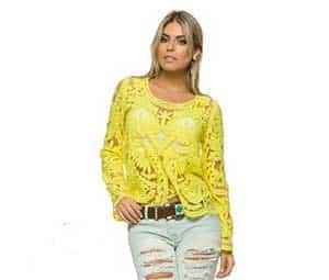 fotos de blusas amarelas