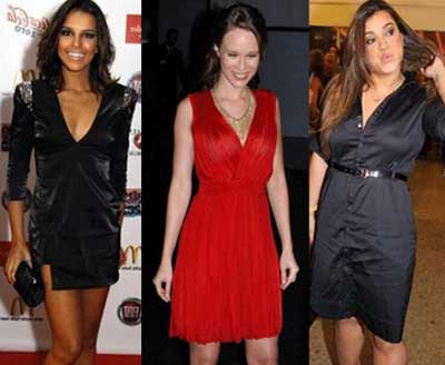 vestidos decote V