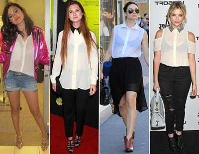 imagens de blusa brancas