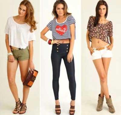 modelos da moda cropped