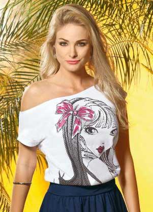modelos de blusa brancas
