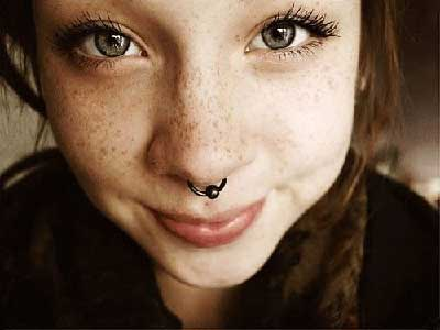 fotos de piercings no septo