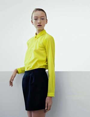 Blusa amarela social