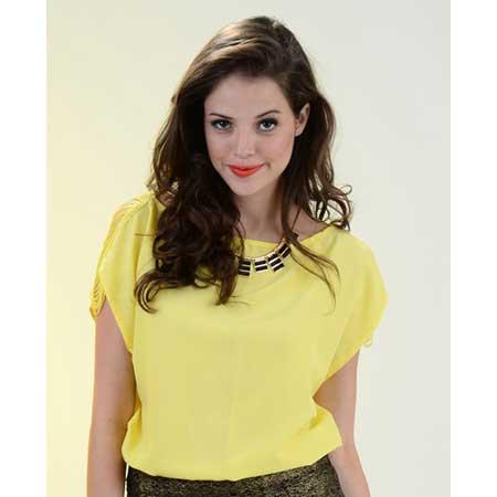 vestidos amarelos femininas