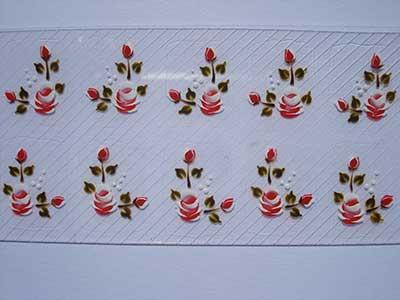 imagens de unhas com adesivos