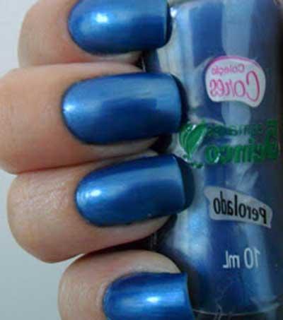 fotos de unhas azuis