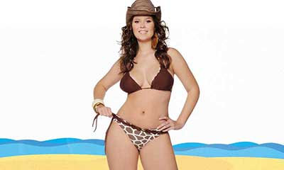 Vai ter gorda de biquíni sim! Kaone lança moda praia plus
