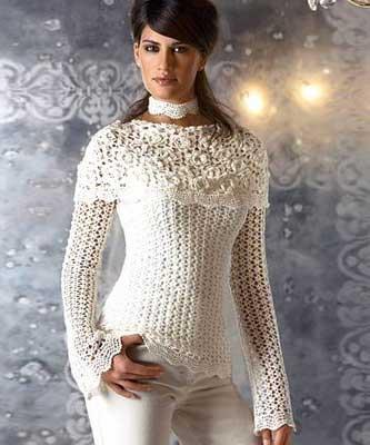 sugestões de blusas de croche