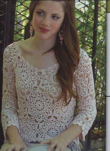 blusas de croche para mulheres