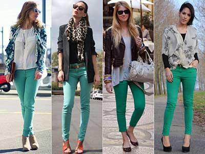 jeans coloridos da moda
