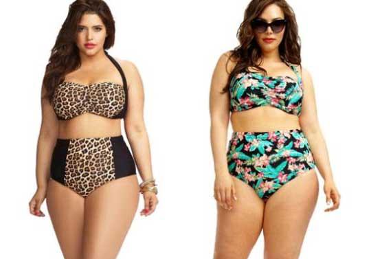 moda praia plus size