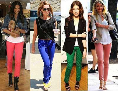 fotos de jeans coloridos