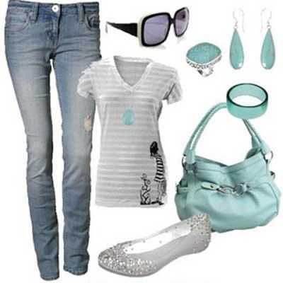 azul com branco