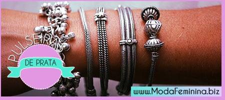 dicas de pulseiras de prata