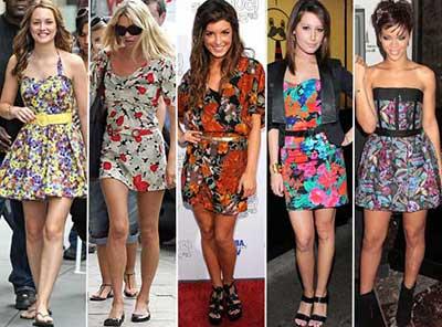 imagens de roupas floridas