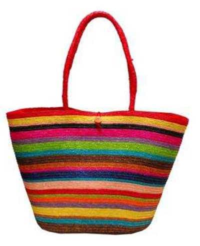 bolsa de praia colorida