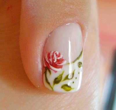 imagens de unhas com flores