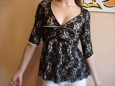 blusas de renda femininas