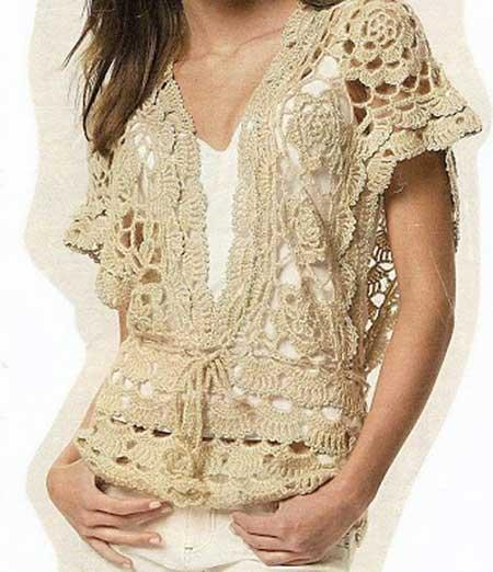 blusas de croche da moda