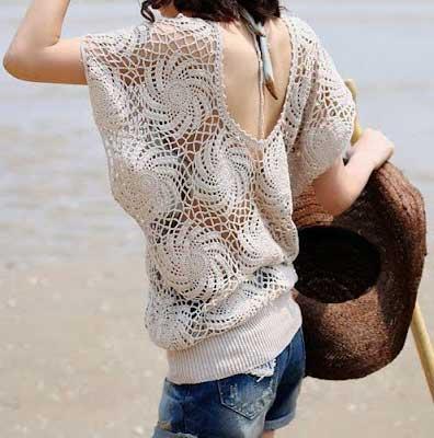 blusas de croche femininas