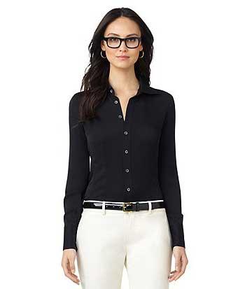 cb486e6c0076e dicas de look para mulheres de negócios. Preta blusas sociais ...
