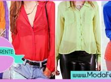 modelos de blusas transparente