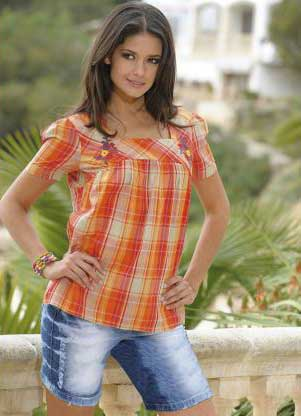 blusas xadrez femininas