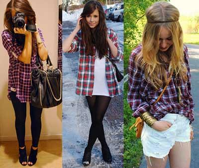 fotos de blusas xadrez