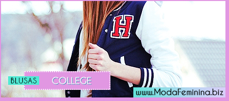 modelos de blusas college