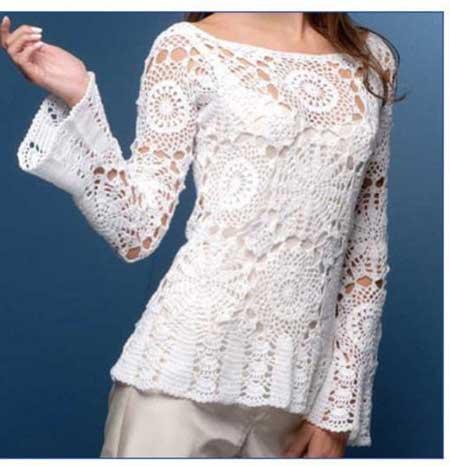 modelos de blusas de croche