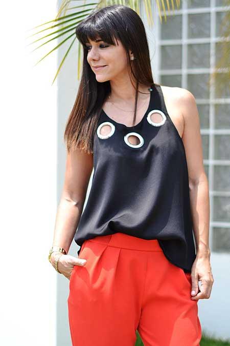blusa de seda da moda