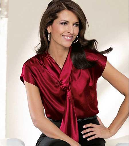 fotos de blusa de seda
