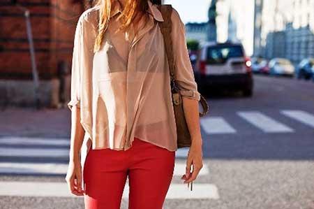 modelos de blusa de seda