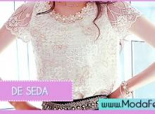 modelos de blusas de seda