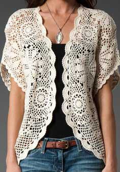 looks com blusas de croche