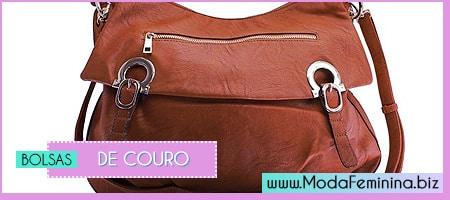 modelos de bolsas de couro