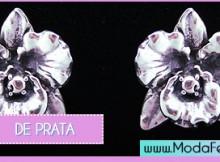 modelos de brincos de prata