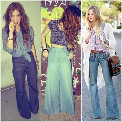 modelos de calças boca de sino da moda