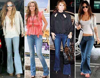 fotos de modelos de calças boca de sino